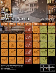 Front Porch Calendar January
