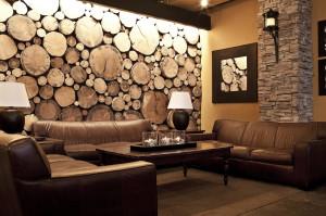 corner angle of lounge area