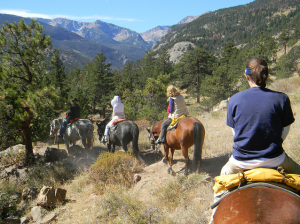 Horseback Riding in the Rocky Mountains