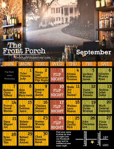 September Name Night Calendar