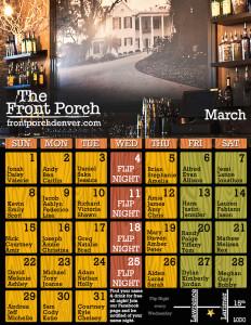 March Front Porch Calendar