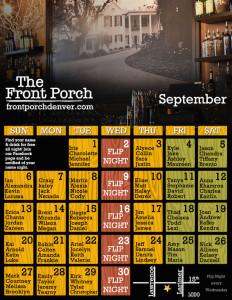 September Calendar Name Night