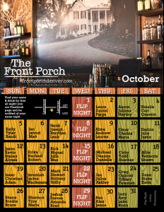 Name Night October Calendar
