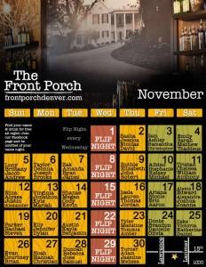 November Name Night Calendar